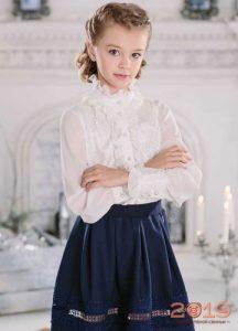 Модная школьная блузки 2019 года