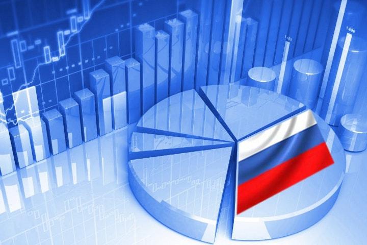 диаграмма с флагом России