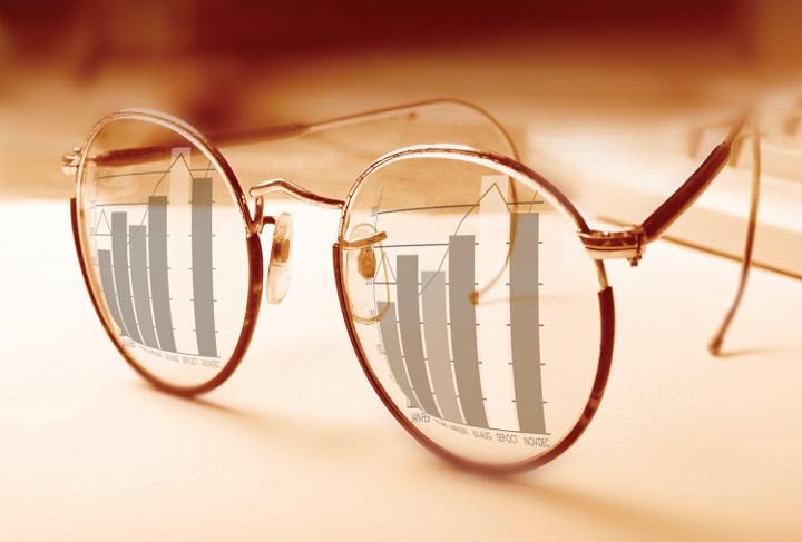 очки с диаграммами