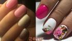 Модный гель-лак 2019 года в розовых оттенках
