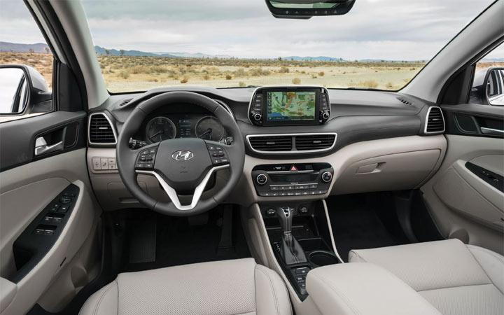 Интерьер Hyundai Tucson 2019