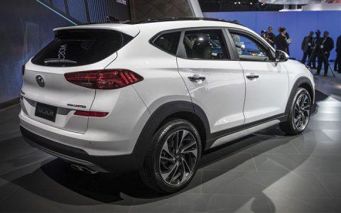 Задний бампер Hyundai Tucson 2019 года