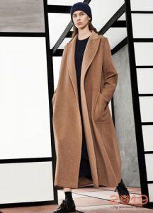 Модное бежевое пальто осень-зима 2018-2019