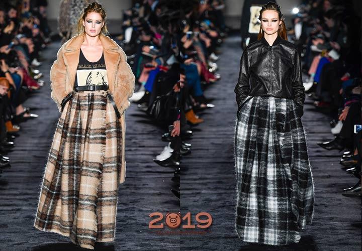 Клетчатые юбки Макс Мара зима 2018-2019