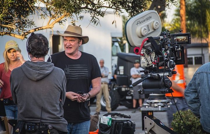 Filming the movie Once in Hollywood in 2019