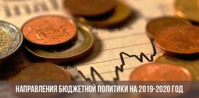 Бюджетная политика РФ на 2019-2020гг