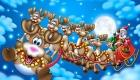 Санта и олени картинка на 2019 год