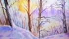 зимний лес пейзаж