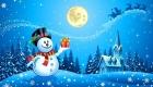 Рисунок со снеговиком зима 2019