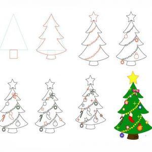 Новогодняя елочка рисунок