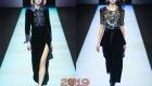 Бархат модные модели платьев Армани на 2019 год
