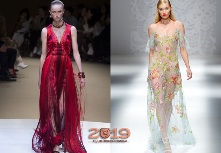 Fashionable evening dresses in 2019