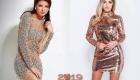 Короткое новогоднее платье 2019 года
