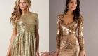 Золотое новогоднее платье