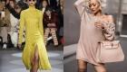 Модели вязаных платьев 2019 года