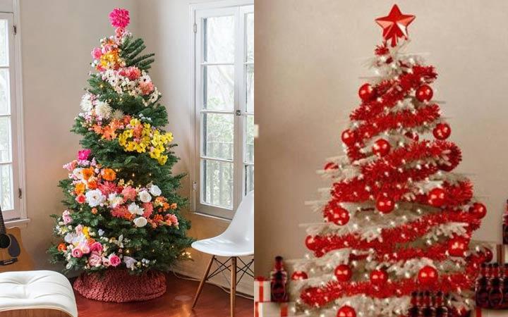 Спиральный дизайн новогодней елки