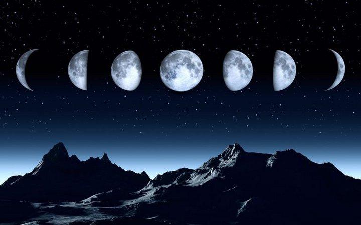 фазы луны над горами