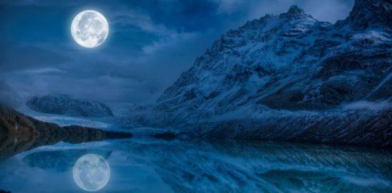 луна над горами