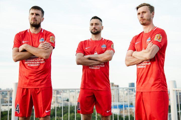 Домашний комплект формы ФК Енисей сезона 2018-2019 года