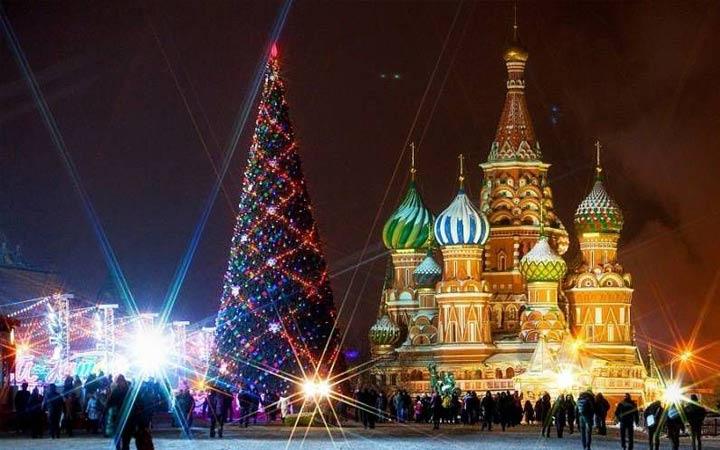Новогодняя ночь 2019 года в Москве