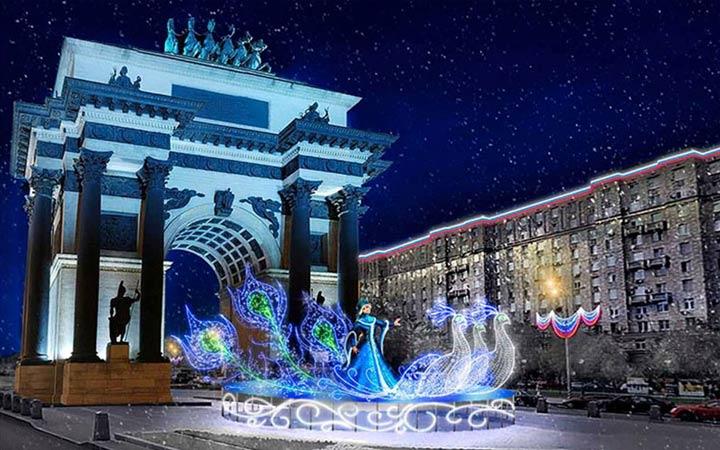Новогодний Парк Победы в Москве
