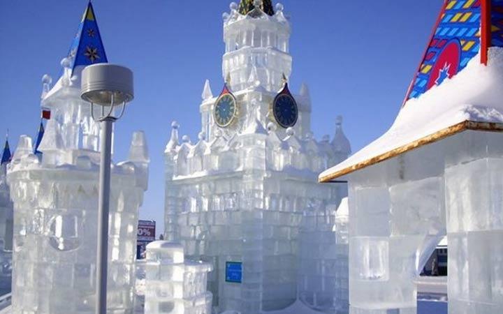 Ледовые замки в Парке Победы
