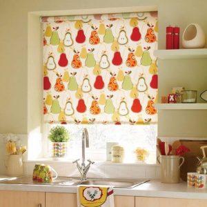 Кухонная штора с принтом
