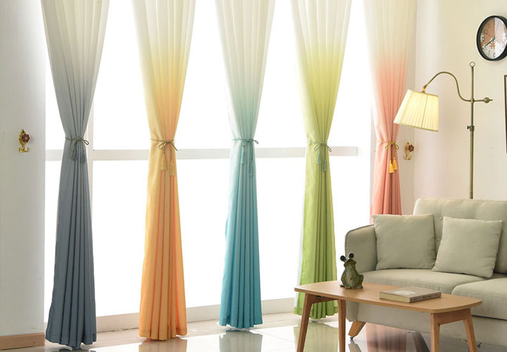 Модные шторы с градиентом