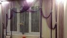 Шторы из нитей для окна на кухне