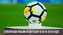 Суперкубок России 2018-2019 года