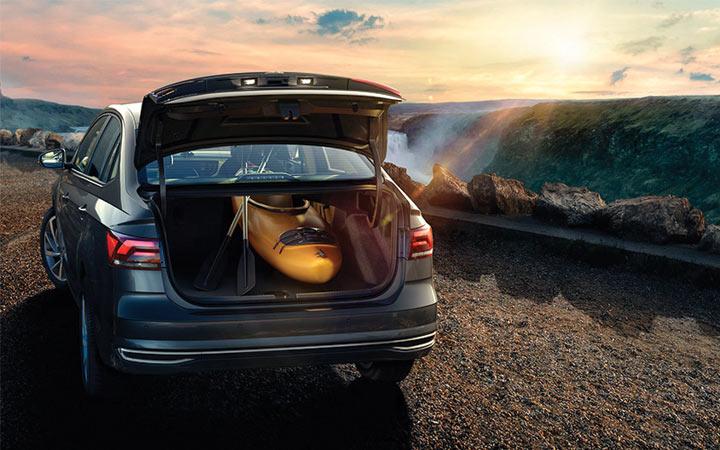 Багажник нового седана Поло 2019 года выпуска