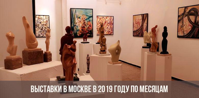 Выставки в Москве по месяцам