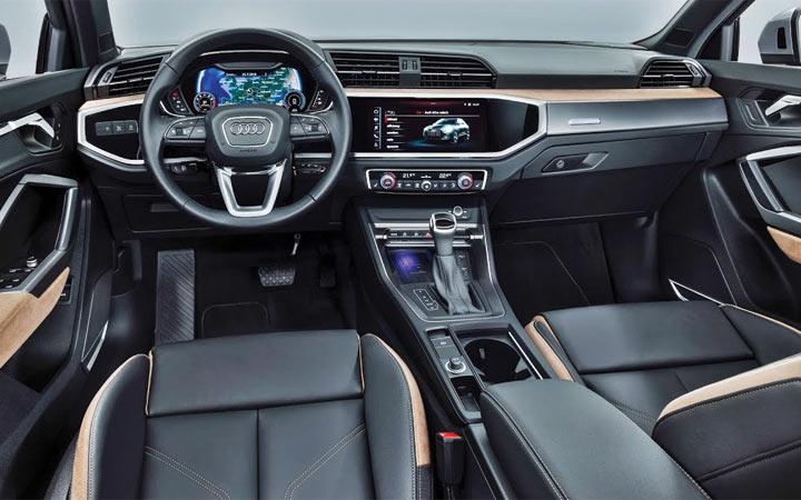Новый дизайн панели Audi Q3 2019