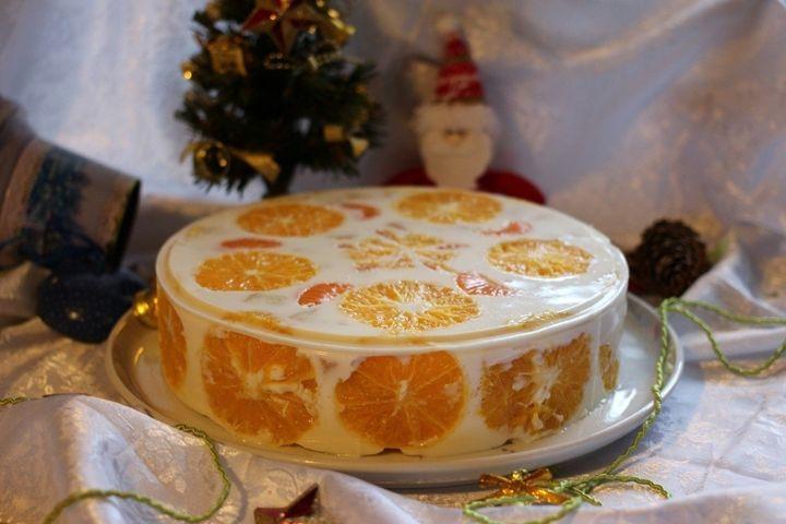 Торт-желе с апельсинами