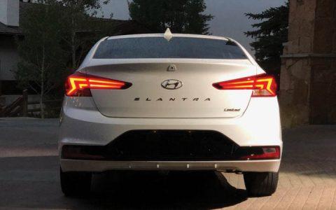 Задний бампер Hyundai Elantra 2019