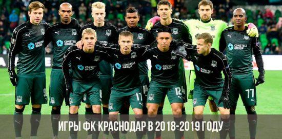 Игры ФК Краснодар 2018-2019