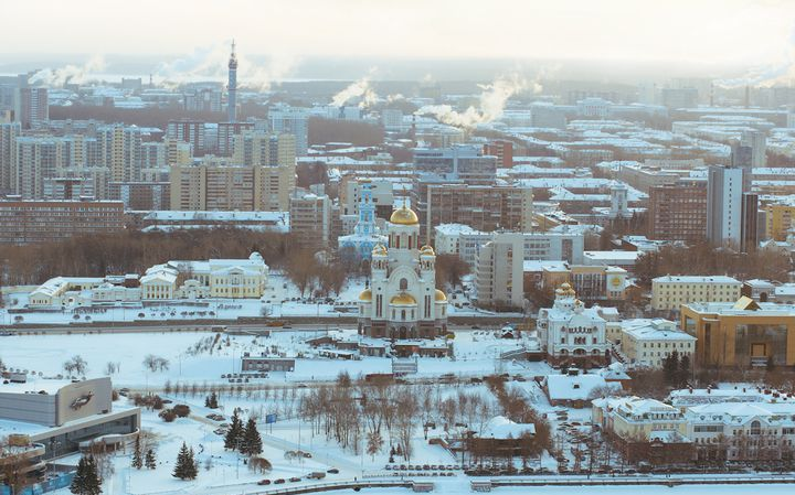 Зимний Екатеринбург