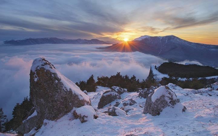 Горы Крыма зимой