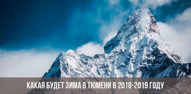 Зима в Тюмени в 2019 году
