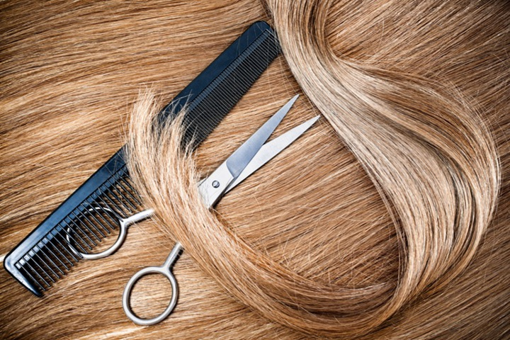 ножницы, расчетска на волосах