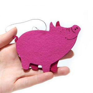 """Елочная игрушка """"свинка"""""""