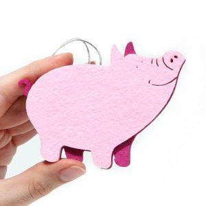 Елочная игрушка свинка своими руками