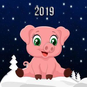 Свинка - символ Нового 2019 года