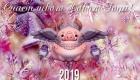 Красивая новогодняя открытка со свинкой на 2019 год