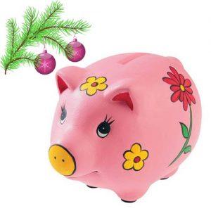 Новогодняя свинка-копилка