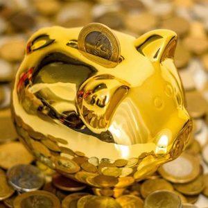Золотая свинка-копилка