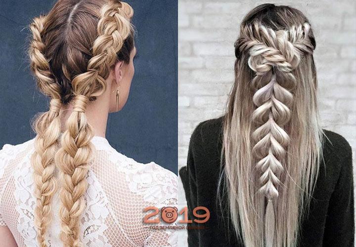 Модные косы 2019 года