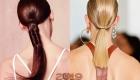 Хвост на гладкие волосы мода 2019 года