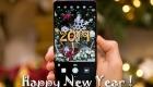 Открытка для СМС на Новый 2019 год