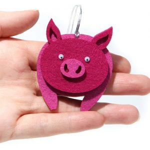 Елочная игрушка свинка на 2019 год